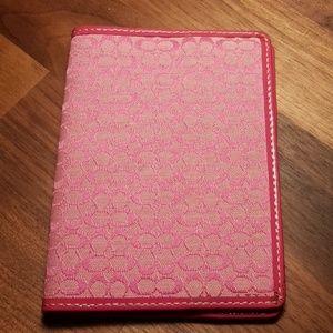 Coach pink passport case